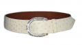 "2""  Ostrich  Belt w/ Sterling Horseshoe Buckle by Peter Hoffman"