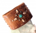 Old Stud Handmade Studded Leather Wrist Cuff  (OS-ch)