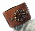 Old Stud Handmade Studded Leather Wrist Cuff  (OS-ci)