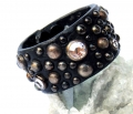 Old Stud Handmade Studded Leather Wrist Cuff  (OS-cj)