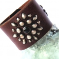 Old Stud Handmade Studded Leather Wrist Cuff  (OS-ck)
