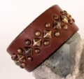 Old Stud Handmade Studded Leather Wrist Cuff  (OS-cl)