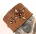 Old Stud Handmade Studded Leather Wrist Cuff  (OS-cm)