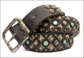 Old Stud Handmade Studded Leather Belt (OS-gn)