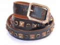 Old Stud Handmade Studded Leather Belt (OS-ng2)