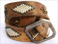 Old Stud Handmade Studded Leather Belt (OS-p2)