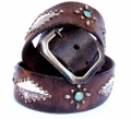 Old Stud Handmade Studded Leather Belt (OS-p6)