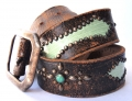 Old Stud Handmade Studded Leather Belt (OS-p7)