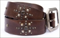 Old Stud Handmade Studded Leather Belt (OS-vj1)