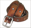 Old Stud Handmade Studded Leather Belt (OS-vj10)