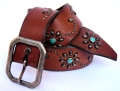 Old Stud Handmade Studded Leather Belt (OS-vj11)