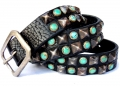 (sc3) Old Stud Handmade Studded Leather Belt