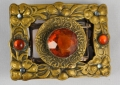 One of a kind buckle & belt from Beth Frank-(095)