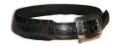 "2"" Alligator Belt in Black w/ Sterling Buckle by Peter Hoffman"