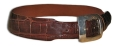 "2"" Alligator Belt in Chocolate w/ Sterling Buckle, Peter Hoffman"