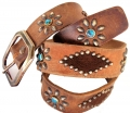 (sc11) Old Stud Handmade Studded Leather Belt