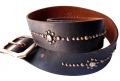 (sc13) Old Stud Handmade Studded Leather Belt