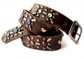 (sc14) Old Stud Handmade Studded Leather Belt