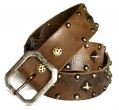 (sc15) Old Stud Handmade Studded Leather Belt
