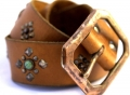 (sc16) Old Stud Handmade Studded Leather Belt
