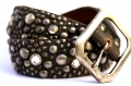 (sc1) Old Stud Handmade Studded Leather Belt